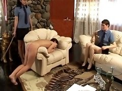 Caned by headgirl
