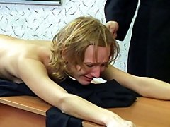 Naked caning...