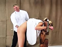 Caned in a...